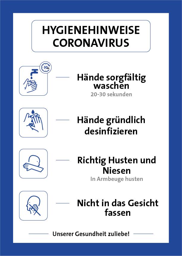 Hygienehinweis