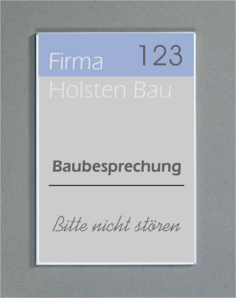 Wandschild | System Karlsruhe | 29,7 cm x 15 cm